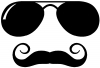 Sunglasses Handlebar Mustache