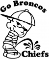 Go Broncos Pee On Chiefs Pee Ons Car Truck Window Wall Laptop Decal Sticker