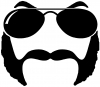 Sunglasses Mustache Mutton Chops