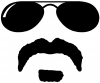 Sunglasses Soul Patch Mustache