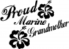 Proud Marine Grandmother Hibiscus Flowers