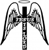 Jesus Is Lord Angel Wings Cross Halo