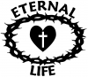 Eternal Life Crown Of Thorns Christian car-window-decals-stickers