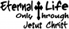 Eternal Life  Jesus Christ Christian car-window-decals-stickers