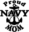 Proud Navy Mom Anchor Military car-window-decals-stickers