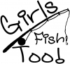 Girls Fish Too Angled Rod