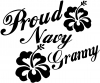 Proud Navy Granny Hibiscus Flowers