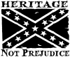 Heritage Not Prejudice Confederate Flag
