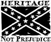 Heritage Not Prejudice Confederate Flag