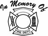 In Memory Of Fire Fighters Badge People car-window-decals-stickers