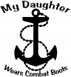 My Daughter Wears Combat Boots Anchor