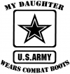 My Daughter Wears Combat Boots Army