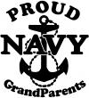 Proud Navy Grandparents  Anchor