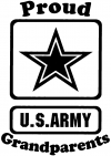 Proud Army Grandparents Star Military car-window-decals-stickers