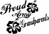 Proud Army Grandparents Hibiscus Military car-window-decals-stickers