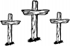 3 Rugged Crosses Christian car-window-decals-stickers