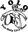 YOLO You Only Live Once Snow Boarding