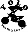 YOLO You Only Live Once Dirt Bike Trick