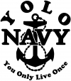 YOLO You Only Live Once Navy