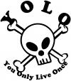 YOLO You Only Live Once Cute Skull