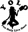 YOLO You Only Live Once Shopping Girlie Car Truck Window Wall Laptop Decal Sticker