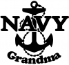 Navy Grandma Military car-window-decals-stickers