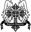 Forever Forgiven Cross Wings Christian car-window-decals-stickers