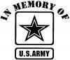 In Memory Of Army