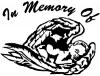 In Memory Of Angel Baby  Christian car-window-decals-stickers