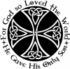 Celtic Cross John 3:16 God Loved the World Christian car-window-decals-stickers