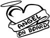 Angel On Board Heart And Halo