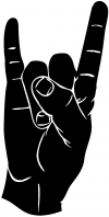 Rock N Roll Hand Gesture Music Car Truck Window Wall Laptop Decal Sticker