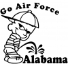 Go Air Force Pee On Alabama Pee Ons Car Truck Window Wall Laptop Decal Sticker
