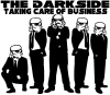 The Dark Side Taking Care Of Business Funny car-window-decals-stickers
