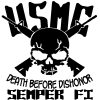 USMC Death Before Dishonor Semper Fi