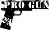 Pro Gun 2nd Amendment Hand Gun Hunting And Fishing car-window-decals-stickers