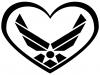 Air Force Inside Heart