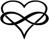 Infinity Symbol Around A Heart
