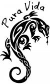 Tribal Iguana Pura Vita Text