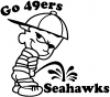 Go 49ers Pee On Seahawks Pee Ons Car Truck Window Wall Laptop Decal Sticker
