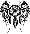 Dreamcatcher With Tribal Wings Western Car Truck Window Wall Laptop Decal Sticker