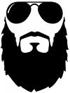Fu Manchu Beard With Sunglasses