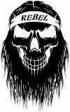 Rebel Skull Beard Skulls Car Truck Window Wall Laptop Decal Sticker