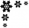 Snowflake Corner Design Other Car Truck Window Wall Laptop Decal Sticker