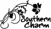 Southern Charm Flower Swirl Country Car Truck Window Wall Laptop Decal Sticker