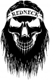 Redneck Skull Beard  Skulls Car Truck Window Wall Laptop Decal Sticker