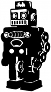 Retro Robot Sci Fi car-window-decals-stickers
