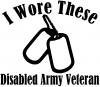 I Wore These Dog Tags Army Veteran