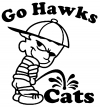 Go Hawks Pee On Cats Pee Ons Car Truck Window Wall Laptop Decal Sticker