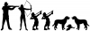 Hunting Stick Family Two Boys Two Dogs